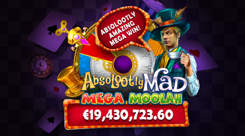 Jackpot Mega Moolah: €19.430.723,60 untuk Mega Moolah yang Benar-benar Gila